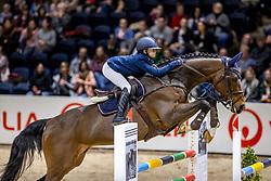 HIMMELREICH Naomi (GER), Cornet's Adel<br /> Finale HGW-Bundesnachwuchschampionat der Springreiter <br /> gefördert durch die Horst-Gebers-Stiftung <br /> In Memoriam Debby Winkler<br /> Stilspringen Kl. M*<br /> Nat. style jumping competition Kl. M*<br /> Braunschweig - Classico 2020<br /> 08. März 2020<br /> © www.sportfotos-lafrentz.de/Stefan Lafrentz