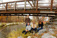 Outdoor fall family portrait session with the Perlette family at the Ranch in Fish Creek Park in SE Calgary.<br /> <br /> ©2019, Sean Phillips<br /> http://www.RiverwoodPhotography.com