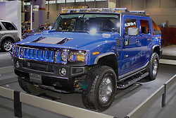 Hummer, powered by a hydrogen fuel cell designed to be earth friendly. Shown at the Chicago Auto Show, February 9, 2006