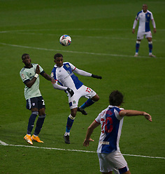 Amari'i Bell of Blackburn Rovers (C) in action - Mandatory by-line: Jack Phillips/JMP - 03/10/2020 - FOOTBALL - Ewood Park - Blackburn, England - Blackburn Rovers v Cardiff City - English Football League Championship