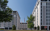 Exterior image of  the Executive Plaza in Maryland by Jeffrey Sauers of Commercial Photographics, Architectural Photo Artistry in Washington DC, Virginia to Florida and PA to New England