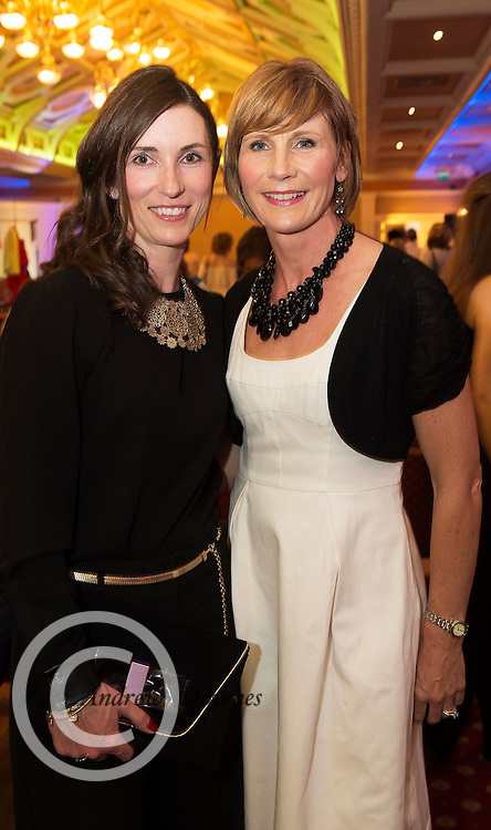 Michelle Leyden and Susan Kilduff, Ardrahan  at A Vintage and Pre-Loved Fashion Extravaganza held in the Lady Gregory Hotel in Gort . A fundraising event organised by the Parents Council for Seamount's new pitch.  Photo:Andrew Downes