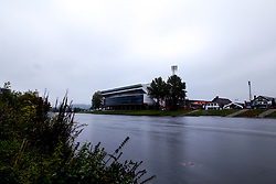 A general view of The City Ground, home of Nottingham Forest on the banks of The River Trent - Mandatory by-line: Robbie Stephenson/JMP - 03/10/2020 - FOOTBALL - The City Ground - Nottingham, England - Nottingham Forest v Bristol City - Sky Bet Championship