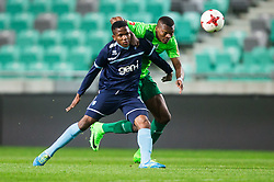 Bede Amarachi Osuji of Gorica vs Blessing Eleke of NK Olimpija during football match between NK Olimpija Ljubljana and ND Gorica in Round #26 of Prva liga Telekom Slovenije 2016/17, on March 29, 2017 in SRC Stozice, Ljubljana, Slovenia. Photo by Vid Ponikvar / Sportida