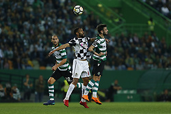 April 22, 2018 - Lisbon, Lisboa, Portugal - Boavista FC Defender Robson from Brazil (L) and Sporting CP Midfielder Bruno Fernandes from Portugal (R) during the Premier League 2017/18 match between Sporting CP and Boavista FC, at Alvalade Stadium in Lisbon on April 22, 2018. (Credit Image: © Dpi/NurPhoto via ZUMA Press)