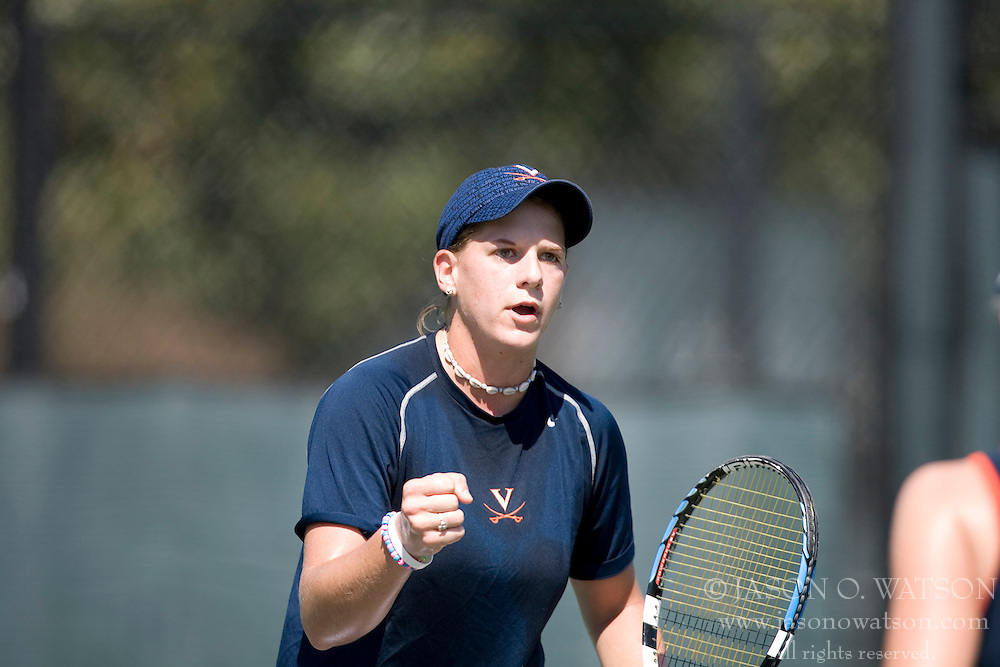 Maggie Yahner in action against Wake.  The Virginia Cavaliers Women's Tennis team fell to the #14 Wake Forest Demon Decons 6-1 at the Snyder Tennis Center in Charlottesville, VA on March 25, 2007.