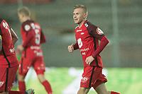 Fotball<br /> 07.10.2018<br /> Eliteserien<br /> Brann Stadion<br /> Brann - Lillestrøm<br /> Taijo Teniste (R) , Brann jubler for scoring<br /> Foto: Astrid M. Nordhaug