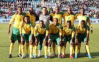 Fotball ,  10. oktober 2009 ,  privatkamp , Norge - Sør-Afrika<br /> <br /> Norway - South-Africa 1-0<br /> <br /> lagbilde , Sør-Afrika
