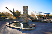 The world's largest sundial located in downtown Carefree,  Arizona.