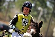 27 March 2010 : Matt McCarron sits steady aboard Diamond Fever as the pair is walked onto the track for the second race of the day, the Camden Plate Maiden Hurdle Race.