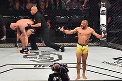 September 22, 2018 - SãO Paulo, Brazil - SÃO PAULO, SP - 22.09.2018: UFC FIGHT NIGHT MARRETA X ANDERS - Sergio Moraes (BRA) X Ben Saunders (USA) at UFC Fight Night Marreta X Anders, this Saturday, (22) in São Paulo. (Credit Image: © Roberto Casimiro/Fotoarena via ZUMA Press)