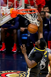 May 6, 2018 - New Orleans, LA, U.S. - NEW ORLEANS, LA - MAY 06:  Golden State Warriors forward Draymond Green (23) dunks the ball against New Orleans Pelicans during game 4 of the NBA Western Conference Semifinals at Smoothie King Center in New Orleans, LA on May 06, 2018.  (Photo by Stephen Lew/Icon Sportswire) (Credit Image: © Stephen Lew/Icon SMI via ZUMA Press)