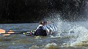 2005 Boat Race, Pre race fixture, Oxford UBC vs Leander Club, Putney, London;  ENGLAND; Oxford University Boat Club -.Leander Club row through the rough water -  Bow Ben Lewis, 2. Ian Lawson, 3. Josh West, 4. Rick Egington, 5,Matt Langridge, 6. Steve Williams, 7. Alex Partridge,Stroke Tommy Burton and cox Christain Cormack.Photo  Peter Spurrier. .email images@intersport-images...[Mandatory Credit Peter Spurrier/ Intersport Images] Varsity:Boat Race Rowing Course: River Thames, Championship course, Putney to Mortlake 4.25 Miles Rough, Choppy, Water, Conditions.