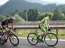 07.07.2015, Windischgarsten, AUT, Österreich Radrundfahrt, 3. Etappe, Windischgarsten nach Judendorf, im Bild v.l. Michael Gogl (AUT), Dominik Hrinkow (AUT) Ausreisser // f.l.t.r. Michael Gogl of Austria Dominik Hrinkow of Austria during the Tour of Austria, 3rd Stage, from Windischgarsten to Judendorf, Windischgarsten, Austria on 2015/07/07. EXPA Pictures © 2015, PhotoCredit: EXPA/ Reinhard Eisenbauer