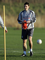 Photo: Paul Thomas.<br /> England training session. 05/02/2007.<br /> <br /> Gareth Barry during England training.