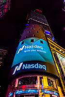 NASDAQ, Times Square, New York, New York USA.