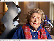 Portrait of Anne Gould Hauberg photographed in her Seattle home.