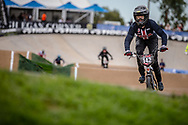 #142 (RIDENOUR Payton) USA at Round 2 of the 2020 UCI BMX Supercross World Cup in Shepparton, Australia.