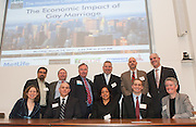 The Ecomomics of Gay Marriage panel discussion presented by Manhattan Chamber of Commerce held at MetLife Conference Center in New York.