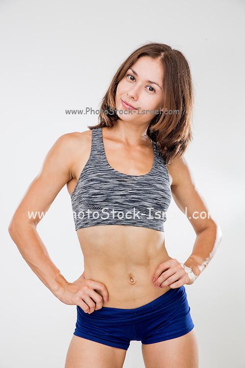 Fitness, sport, training women in sport clothing in studio Model release available
