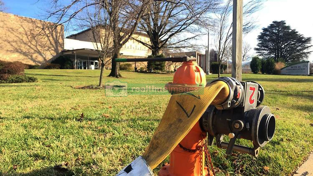 December 17, 2018 - Pikesville, MD, USA - HAZMAT and emergency medical crews are called to Beth El School in Pikesville, Md., for a report of a suspicious package on Monday, Dec. 17, 2018. (Credit Image: © Colin Campbell/Baltimore Sun/TNS via ZUMA Wire)