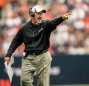Aug 25, 2013; Houston, TX, USA; New Orleans Saints assistant head coach Joe Vitt coaches against the Houston Texans during the first half at Reliant Stadium. Mandatory Credit: Thomas Campbell