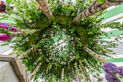 The Leeds castle entry in the Floral Design Studio - The Hampton Court Flower Show, organised by the Royal Horticultural Society (RHS). In the grounds of the Hampton Court Palace, London.