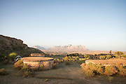 Gherelta Lodge and Mountains near Hawzen, Gheralta area, Tigray, Ethiopia, Horn of Africa