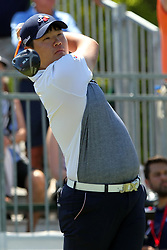 March 23, 2019 - Palm Harbor, FL, U.S. - PALM HARBOR, FL - MARCH 23: Sungjae Im tees off during the third round of the Valspar Championship on March 23, 2019, at Westin Innisbrook-Copperhead Course in Palm Harbor, FL. (Photo by Cliff Welch/Icon Sportswire) (Credit Image: © Cliff Welch/Icon SMI via ZUMA Press)