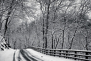 Oella Ave., in Oella, Maryland after a snow.