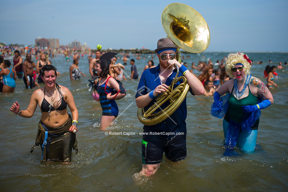 Mermaid Parade at Coney Island 2013. New York <br /> <br /> (Photo by Robert Caplin)