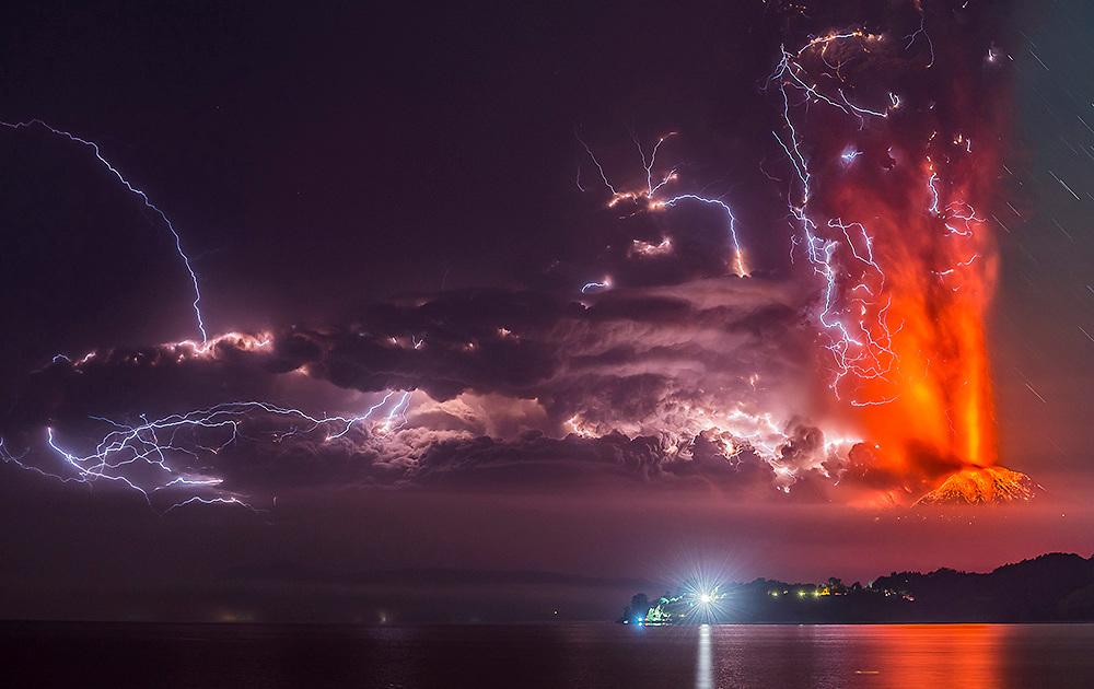 Calbuco Volcano Eruption in Chile.
