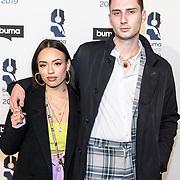 NLD/Hilversum/20190311  - Uitreiking Buma Awards 2019, Jung Felix en partner