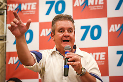 O empresário Rubens Rebés e o advogado Tomaz Schuch são os novos dirigentes do AVANTE, no RS. A posse da direção estadual do partido contou com a presença do Deputado Federal e presidente nacional, Luís Tibê (MG), e ocorreu na noite de quinta-feira (15/3) no Hotel Intercity. AVANTE é um partido político brasileiro, fundado como Partido Trabalhista do Brasil (PTdoB) por dissidentes do Partido Trabalhista Brasileiro (PTB), em 1989. Seu número eleitoral é o 70. O novo nome, criado a partir do desejo das pessoas que lutam por um país que segue em frente, se aproxima ainda mais dos verdadeiros objetivos do partido, alicerçado ao longo de sua história e atrelado aos novos pilares: compromisso, prosperidade, humanidade, coletividade, diálogo, transparência e liberdade. FOTO: Gustavo Roth / Agência Preview