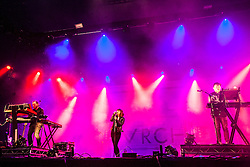 Chvrches play the In New Music We Trust stage, Sunday, BBC Radio 1's Big Weekend Glasgow. Saturday at Glasgow Green, BBC Radio 1's Big Weekend Glasgow 2014.