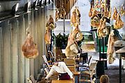Gent, Belgium, 2 Augustus, 2007, Waiter at  The Great Butchers' Hall