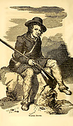 Western Hunter from the book ' Historical Sketches Of Kentucky (1847) ' ITS HISTORY, ANTIQUITIES, AND NATURAL CURIOSITIES, GEOGRAPHICAL, STATISTICAL, AND GEOLOGICAL DESCRIPTIONS. WITH ANECDOTES OF PIONEER LIFE By Lewis Collins. Published by Lewis Collins, Maysville, KY. and J. A. & U. P. James Cincinnati. in 1847