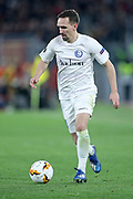 Sven Kums of KAA Gent during the UEFA Europa League, round of 32, 1st leg football match between AS Roma and KAA Gent, Thursday, Feb. 21, 2020,  in Rome, Italy. (Luca Pagliano/ESPA-Images-Image of Sport via AP)