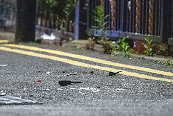 © Licensed to London News Pictures. 20/07/2020. London, UK. A screw river sits on Scott Street alongside other debris. An investigation has been launched after a person was rammed by a car in Bethnal Green, the person was rammed by the vehicle into a fence. Photo credit: Peter Manning/LNP