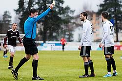 Matej Jug head referee during the football match between NK Triglav Kranj and NS Mura in 23rd Round of Prva liga Telekom Slovenije 2019/20, on March 1, 2020 in Športni park Kranj, Kranj, Slovenia. Photo By Grega Valancic / Sportida