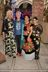 "Left to right, Ellen von Unwerth, Philip Treacy, Salma Hayek and Circe Henestrosa at the opening of ""Frida Kahlo: Making Her Self Up"" Exhibition at the V&A Museum, London England. 13 June 2018."