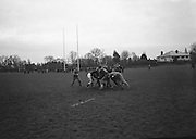Irish Rugby Football Union, Ireland v England, Five Nations, Ireland practice at Old Belvedere, Dublin, Ireland, Friday 10th February, 1967,.10.2.1967, 2.10.1967, .. Referee- D M Hughes, Welsh Rugby Union, ..Score- Ireland 3 - 8 England, ..Irish Team, ..T J Kiernan,  Wearing number 15 Irish jersey, Full Back, Cork Constitution Rugby Football Club, Cork, Ireland,..D Scott, Wearing number 14 Irish jersey, Right Wing, Queens University Rugby Football Club, Belfast, Northern Ireland, ..F P K Bresnihan, Wearing number 13 Irish jersey, Right Centre, University College Dublin Rugby Football Club, Dublin, Ireland, ..J C Walsh,  Wearing number 12 Irish jersey, Left Centre, Sundays Well Rugby Football Club, Cork, Ireland, ..N H Brophy, Wearing number 11 Irish jersey, Left wing, Blackrock College Rugby Football Club, Dublin, Ireland, ..C M H Gibson, Wearing number 10 Irish jersey, Stand Off, N.I.F.C, Rugby Football Club, Belfast, Northern Ireland, ..B F Sherry, Wearing number 9 Irish jersey, Scrum Half, Terenure Rugby Football Club, Dublin, Ireland, ..K G Goodall, Wearing number 8 Irish jersey, Forward, Newcastle University Rugby Football Club, Newcastle, England, ..M G Doyle, Wearing number 7 Irish jersey, Forward, Edinburgh Wanderers Rugby Football Club, Edinburgh, Scotland, ..N Murphy, Wearing number 6 Irish jersey, Captain of the Irish team, Forward, Cork Constitution Rugby Football Club, Cork, Ireland,..M G Molloy, Wearing number 5 Irish jersey, Forward, University College Galway Rugby Football Club, Galway, Ireland,  ..W J McBride, Wearing number 4 Irish jersey, Forward, Ballymena Rugby Football Club, Antrim, Northern Ireland,..P O'Callaghan, Wearing number 3 Irish jersey, Forward, Dolphin Rugby Football Club, Cork, Ireland, ..K W Kennedy, Wearing number 2 Irish jersey, Forward, C I Y M S Rugby Football Club, Belfast, Northern Ireland, ..T A Moroney, Wearing number 1 Irish jersey, Forward, University College Dublin Rugby Football Club, Dublin, Ireland, .