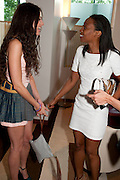 ELIZA DOOLITTLE; BEVERLEY KNIGHT, The Tomodachi ( Friends) Charity Dinner hosted by Chef Nobu Matsuhisa in aid of the Japanese Tsunami Appeal. Nobu Park Lane. London. 4 May 2011. <br /> <br />  , -DO NOT ARCHIVE-© Copyright Photograph by Dafydd Jones. 248 Clapham Rd. London SW9 0PZ. Tel 0207 820 0771. www.dafjones.com.