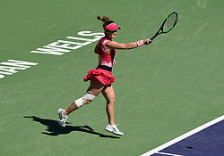 March 8, 2019 - Indian Wells, CA, U.S. - INDIAN WELLS, CA - MARCH 08: Lauren Davis (USA) after returning a shot during a match at the BNP Paribas Open played at the Indian Wells Tennis Garden in Indian Wells, CA. (Photo by John Cordes/Icon Sportswire) (Credit Image: © John Cordes/Icon SMI via ZUMA Press)