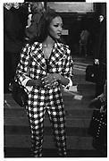 Naomi Campbell, Paris couture shows. 1991