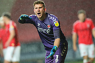 Charlton Athletic goalkeeper Dillon Phillips (1) appeals for a free kick during the EFL Sky Bet Championship match between Charlton Athletic and Hull City at The Valley, London, England on 13 December 2019.