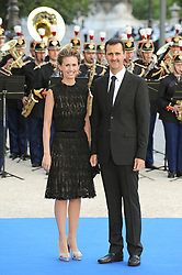 File photo - Syrian President Bashar Al Assad and his wife Asma arrive for a dinner hosted for the Heads of Delegation, their spouses, and Ministers at the Petit Palais, after attending Paris' Union for the Mediterranean founding summit in Paris, France on July 13, 2008. Syria's British-born first lady Asma Assad has begun treatment for breast cancer. The Syrian presidency posted on its Facebook page a photo of President Bashar Assad sitting next to his wife in a hospital room. Photo by Abd Rabbo-Mousse/ABACAPRESS.COM