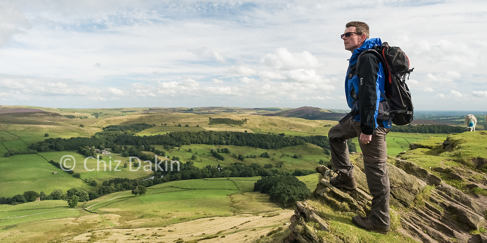 Atop the edge of Shutlingsloe