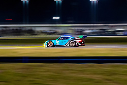 DAYTONA, FLORIDA - JANUARY 25, 2020: Wright Motorsports, Klaus Bachler, Ryan Hardwick, Anthony Imperato and Patrick Long driving the Porsche 911 GT3 R during the 58th running of the IMSA WeatherTech Sports Car Championship Rolex 24 at Daytona International Speedway.