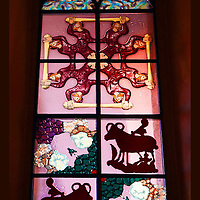 Stained glass window Grossmunster Zurich Switzerland